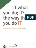 Software License Optimization Report 2013