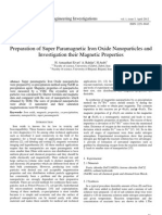 Preparation of Super Paramagnetic Iron Oxide Nanoparticles and