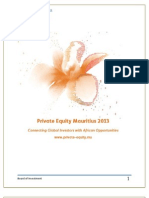 Private Equity Mauritius 2013 Sponsorship Opportunities