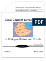 Ethiopia - 2003 - Local Content Development Status and Trends