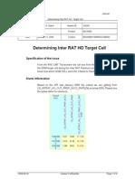 Determining Inter RAT Handover Target Cell