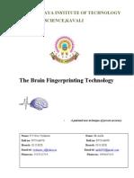 D-3 Brain Finger Printing Technology