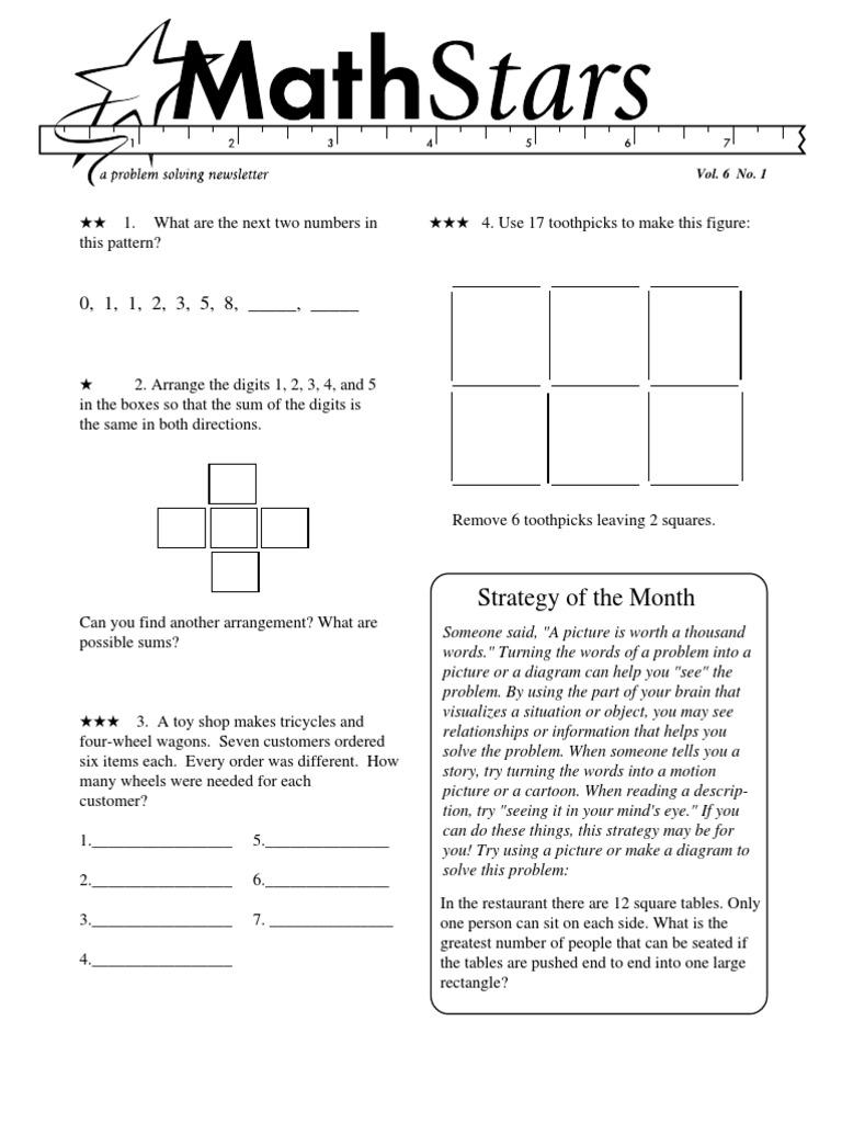 Grade 6 Math Stars Fraction Mathematics Teaching Mathematics [ 1024 x 768 Pixel ]