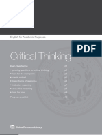 Critical Thinking for ESL