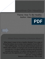 How to Be Healthy.ppt
