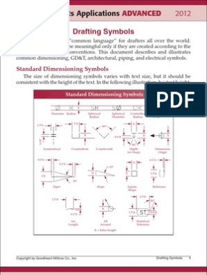 Architectural Drafting Symbols pdf | Technical Drawing | Electrical