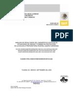 ANÁLISIS DE RESULTADOS DEL DIAGNÓSTICO ESCOLAR DE SITUACIONES DE RIESGO Y FORMAS DE PROTECCIÓN DE LA ESCUELA PREPARATORIA FEDERAL LÁZARO CÁRDENAS