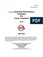 A175 Recommended Performanace Guidelines for Crack Treatment