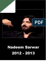 Nadeem Sarwar 2012 - 2013