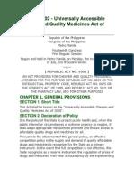 Cheaper Medicine Bill