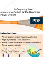 Potential Underfrequency Load Shedding Schemes for the Slovenian Power System