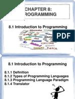 Topic 8 Programing