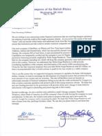 Geithner Letter