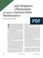 Children - Patricia Clark Kenschaft - Teaching Elementary School Teachers More Mathematics