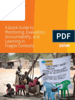 A Quick Guide to Monitoring, Evaluation, Accountability and Learning in Fragile Contexts