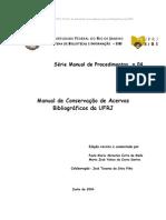 Manual de Conservação de Acervos Bibliográficos da UFRJ