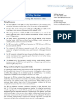 RBI Monetary Policy Review, 1Q FY 2014