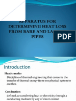 Heat Loss for Bare and Lagged Pipes
