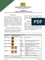 wasserstoff peroxid  Schutzmassnahmen
