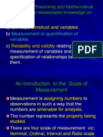 4185 4185 Scale of Measurement,Reliability&Validity