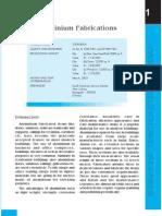 Project profile on Aluminium Fabrications