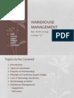 Presentation on  Warehouse Management