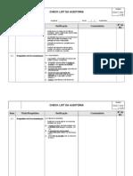 Check-List - Auditoria Qualidade, Meio Ambiente e Seguran_a