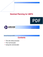 Aircom Nominal Planning for UMTS