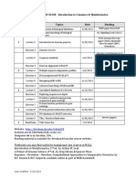 BCHM62Graduate Program in Biomedical Sciences 