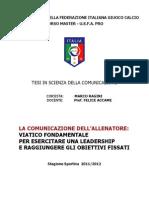 La comunicazione dell'allenatore (di Marco Ragini)