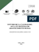Estudio de Calidad de Agua en Sistemas de Abastecimiento Rural