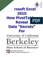 UC Excel 2010 - Module 5 - Pivot Tables.pdf