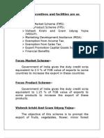 Export Incentives OMKAR