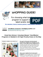 Shoppers Guide for Choosing a Tutor/Mentor Program to Support