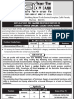 2013 Eximbankindia Notification Administrative Officer Posts