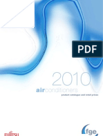 Fujitsu Air Conditioning Pricelist 2010
