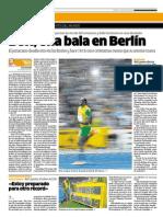 Récord de Usain Bolt en los 200 mt