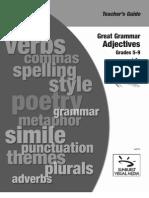 Teachers Guide[1] Adjectives