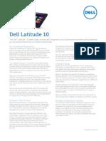 Dell Latitude 10 Tablet Spec Sheet
