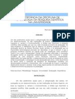 A IMPORTÂNCIA DA DISCIPLINA DE METODOLOGIA DA PESQUISA CIENTÍFICA NA UNIVERSIDADE