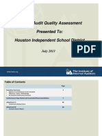 Audit of HISD Inspector General's Office