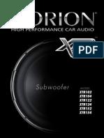 XTR102 Subwoofer Orion