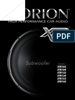 XTR102 Subwoofer Orion