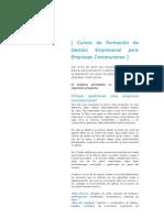 Cursos de Formación de Gestión Empresarial para Empresas Constructoras