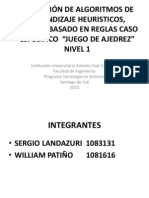 APLICACIÓN DE ALGORITMOS DE APRENDIZAJE HEURISTICOS, SISTEMA