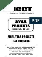 2012-11 Ieee Java Ieee Project Titles Yr 2012-11-10, Ncct Java Ieee Project List