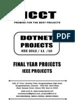 2012-11 Ieee Dotnet Ieee Project Titles Yr 2012-11-10, Ncct .Net Ieee Project List