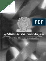 Thompson, Roy - Manual de montaje. I. Gramática del montaje cinematográfico [1993]