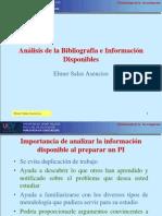 SESIÓN 6 Análisis de la Bibliografía e Información Disponibl