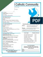 BOLETIN PARROQUIAL 7-28-13